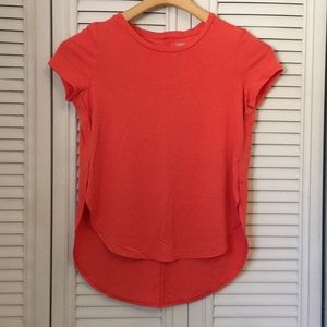 Old Navy Coral High Low Tee